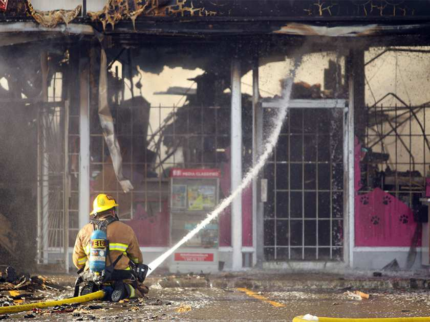 Cat House store destroyed in Stadium Shopping Centre fire